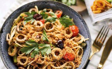 Spaghetti con calamari vegano